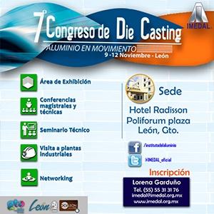7º CONGRESO DE DIE CASTING 2016