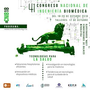 XLI CONGRESO NACIONAL DE INGENIERIA BIOMEDICA