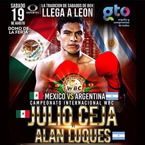 CAMPEONATO INTERNACIONAL WBC: JULIO CEJA VS ALAN LUQUES