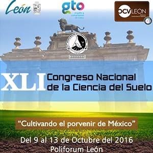 XLI CONGRESO NACIONAL DE LA CIENCIA DEL SUELO