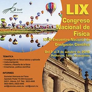 LIX CONGRESO NACIONAL DE FÍSICA