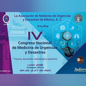 VI CONGRESO NACIONAL DE LA ASOCIACIÓN DE MEDICINA DE URGENCIAS Y DESASTRES DE MÉXICO